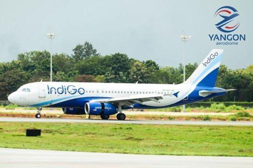 Yangon International Airport Welcomes Indigo S Inaugural Flight From Kolkata Ajot Com