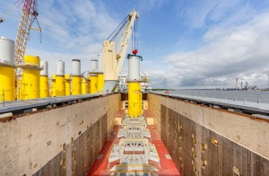 SAL Heavy Lift handles 49 transition pieces for horns rev 3 offshore wind farm