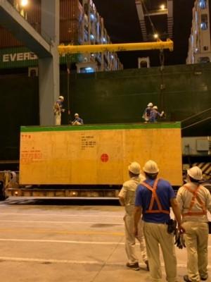 EZ Link Taiwan handles OOG machinery to Los Angeles