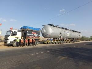 Transportation of heavy Desalter vessel by Express Global Logistics