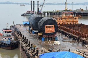 EXG transports and barges complex heavy cargo through India