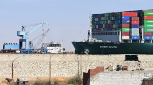 Egypt waves goodbye to Suez Canal saga with payoff and a party