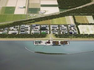 Port of Flevokust Haven built to serve the wind