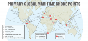 Global maritime choke points