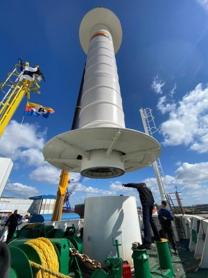 North Sea region adds a new wind-assist rotor installed vessel to the fleet