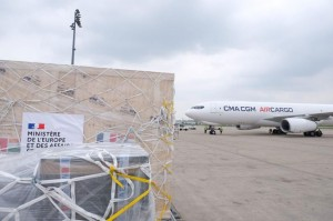 CMA CGM Air Cargo Group demonstrates its ability to transport emergency humanitarian relief between France and India