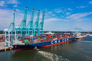 Another step forward for the Port of Virginia as it welcomes record-breaking box ship to Virginia International Gateway