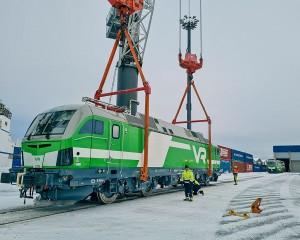 XLP member, Trans-Trading, transports locomotives for Finland