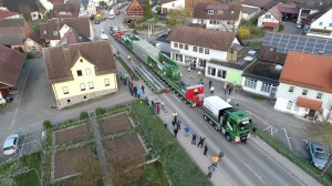 Heaviest transformer transport ever in South German County