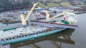 SAL Heavy Lift delivers bridge sections to Norway