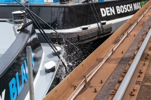 Concordia Damen held naming ceremony for twin inland container vessels for Den Bosch Max BV