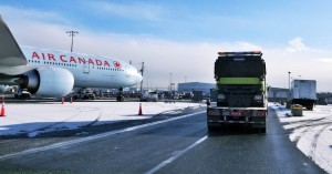 Canaan Shipping deliver snow plow to Vancouver Airport