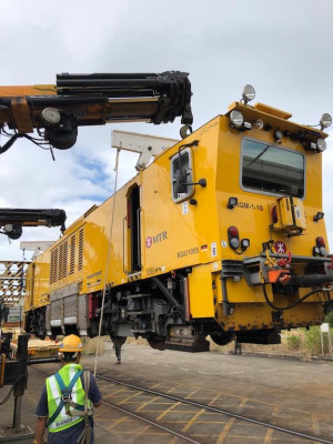 Relocation of MTR's rail grinder machine in Hong Kong