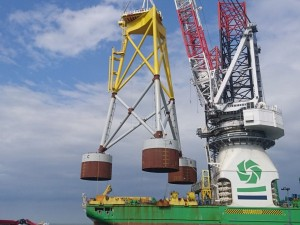 Framo technology used to successfully install wind turbine foundations