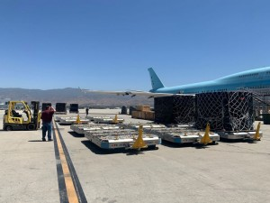 Aviation leaders join forces for B747F delivery of life-saving Covid relief aid to India