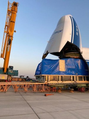 Volga-Dnepr transports its largest outsized piece onboard An-124-150