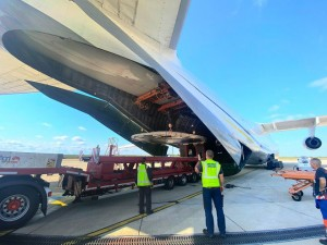 Antonov Airlines transports 40 tons of mining equipment to Argentina