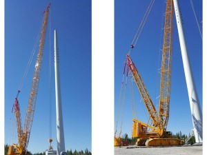 BOLK Transport GmbH transports large-scale cranes for Europe's largest wind park in Sweden