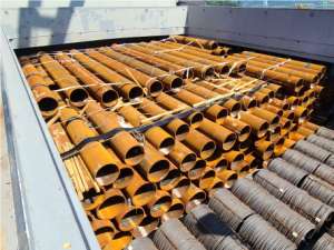 deugro delivered 17,487 freight tons of steel pipes to Indonesia for a renewable energy offshore project