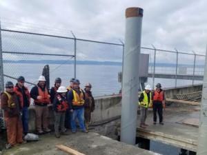 Port of Everett South Terminal Modernization Update, Final Pile Installed