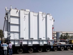 Oversized and heavy transformer transport in India