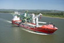 Hansa Heavy Lift safely transports shiploader from China to the USA