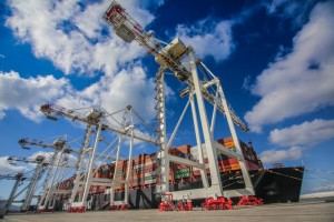 Tanger Alliance operating at full capacity with eight new Liebherr ship to shore container cranes
