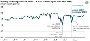 Hurricane Ida disrupted crude oil production and refining activity