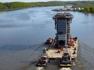 Mammoet completes roll-off operation for 3152-ton HRSG module