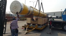 X2 member New Sign Logistics moves under sea heavy pipe for oil and gas