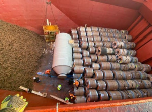 Cargo experts report shipment of steel coils