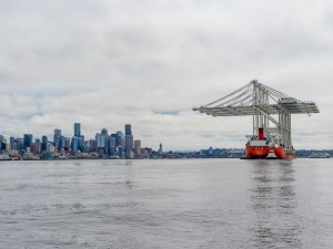 SSA Marine brings in four of the largest cranes on the West Coast to Terminal 5 in Seattle