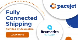 """Pacejet fully connected shipping now """"fulfilled by Acumatica"""""""