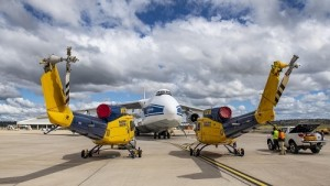 Volga-Dnepr's An-124 delivers four water-bombers to Greece to support seasonal wildfire-fighting efforts