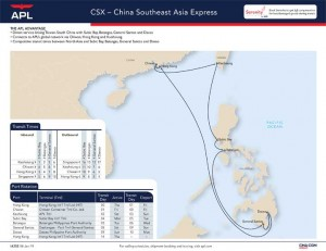 APL unveils new China Southeast Asia express