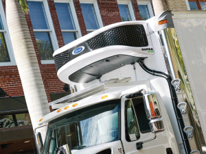 Carrier Transicold's new Supra S10 truck unit maximizes refrigeration capacity with greater efficiency