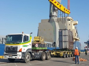 Turk execute transportation of transformer in Bahrain