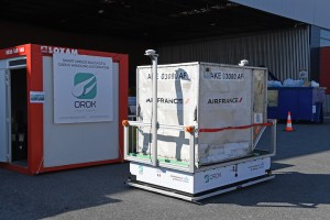 Groupe ADP and Air France KLM Martinair Cargo experiment OROK's autonomous electric vehicles for freight transportation at Paris-Charles de Gaulle airport