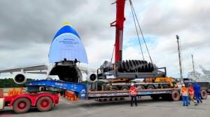 Antonov Airlines transports urgent mining equipment from Australia to Brazil