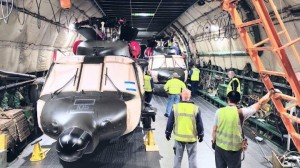 Antonov Airlines transports five Black Hawk helicopters on short notice