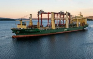 AAL Shipping transports four RTG cranes from China to Norway