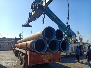 First Global Logistics transports pipes for Petrobel project