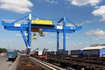 New railway crane in operation at logport III