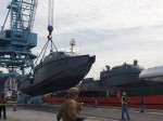 Next generation U.S. Navy patrol boats move through JAXPORT's dedicated heavy lift dock