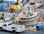 Canadian-made pedestals exported by water route for New York Wheel