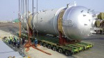 Heavy converter and absorber moved from South Korea to Iran by Hansaeng
