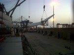 Heavy transformer and windmill blades for Karachi Port