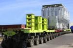 Wingaard Natie moved heavy transformer in Belgium