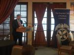 John McLaurin, PMSA president, addressing Propeller Club of Northern California luncheon audience