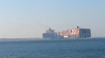 Collision delays Suez Canal traffic (Video)